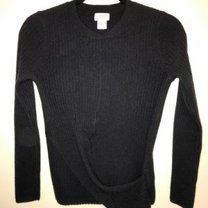 Club Monaco CrossFront Cashmere Ribbed Sweater